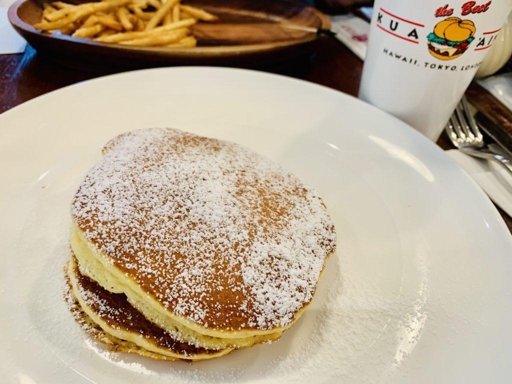 クアアイナのメープルホイップパンケーキのホイップなし