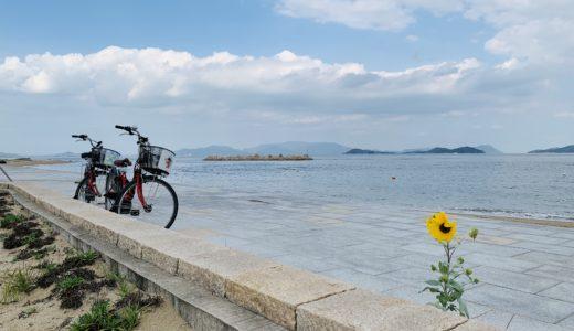 【旅行記】女木島の空と海の近さに癒されつつ、汗だくで山サイクリング&鬼退治【ブログ】