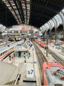ハンブルク中央駅 ホーム
